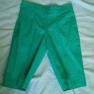 Women Long Shorts Size 6 Green